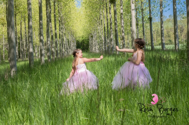 shooting photo : deux fées dans les bois