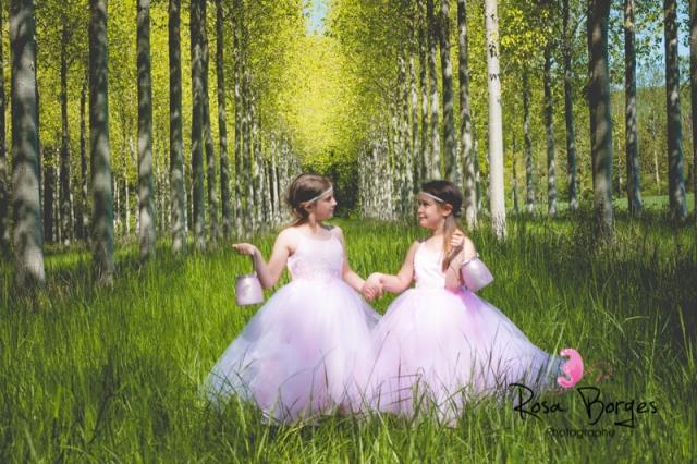 Shooting photo enfant professionnelle : soeurs et féés