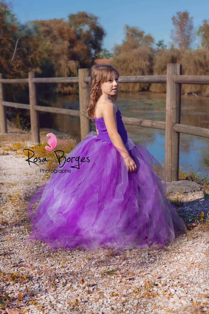 photographie professionnelle, petite fille en robe de princesse