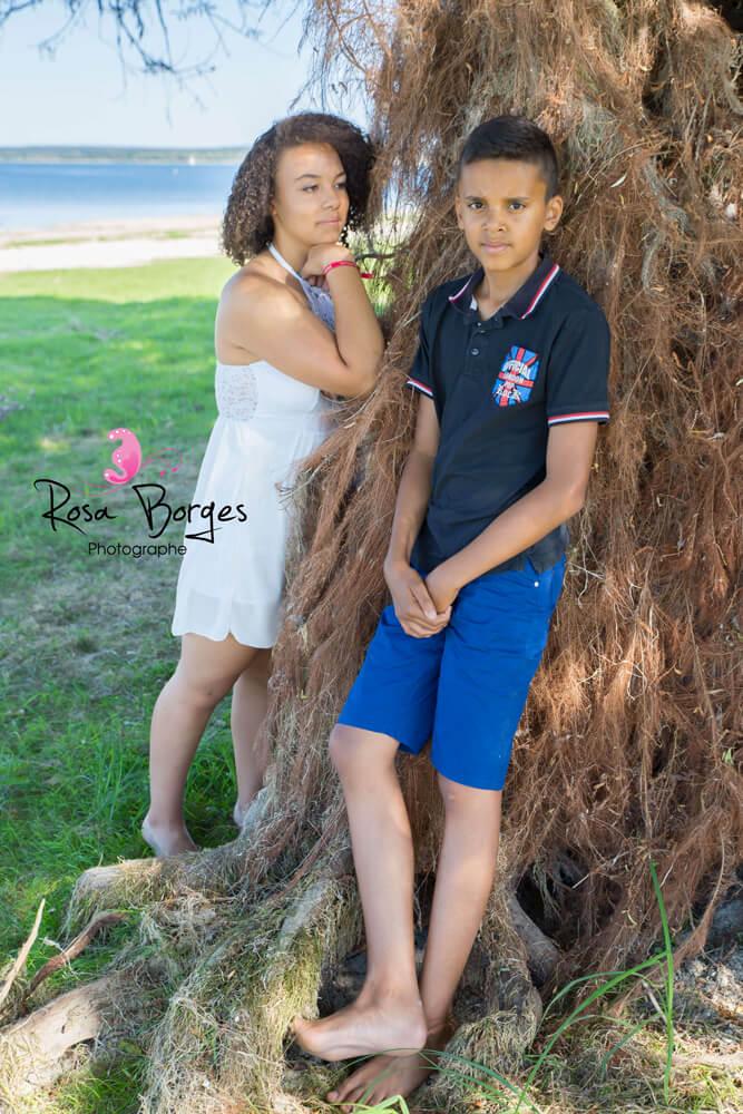Shooting photo famille : frère et soeur