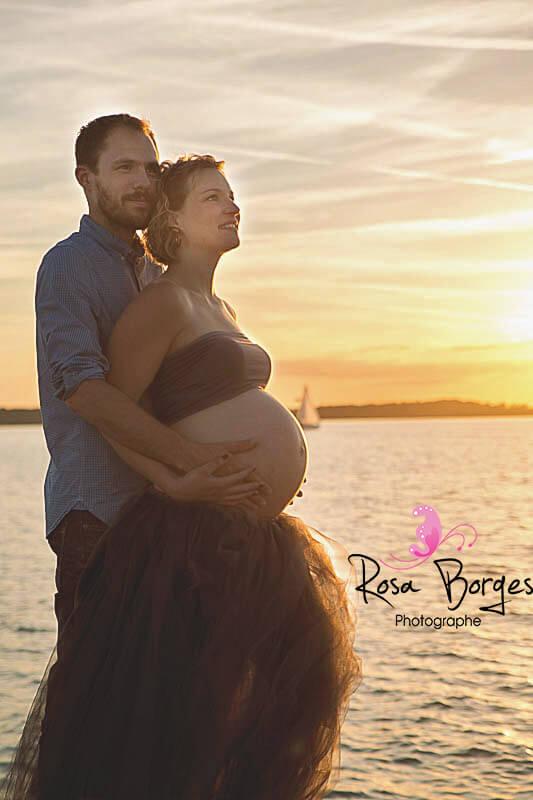 séance photo maternité en couple, en amoureux