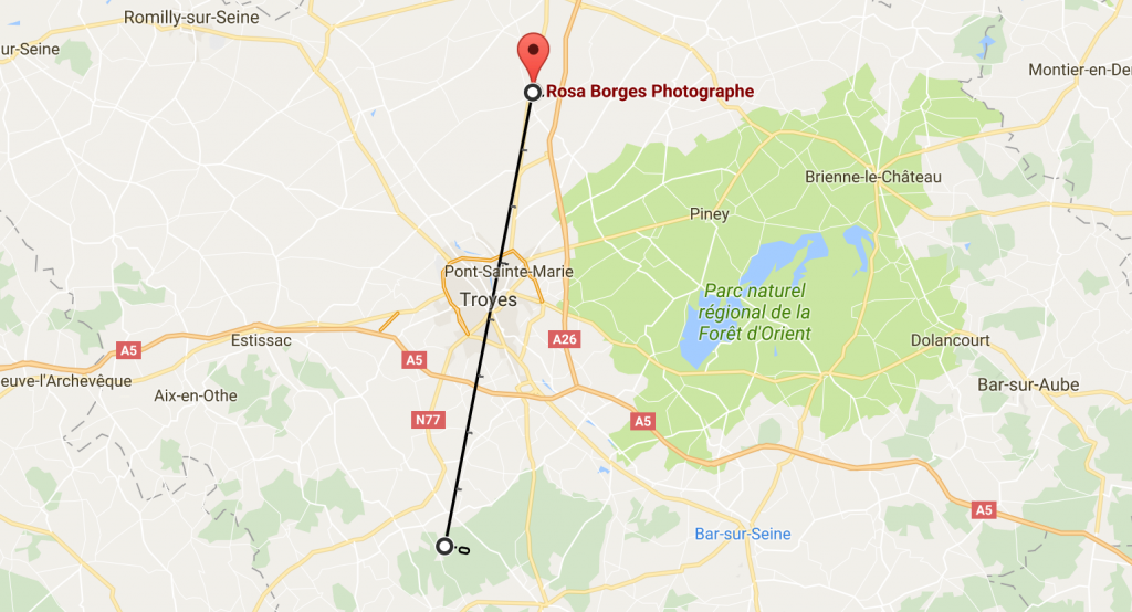 plan des distance déplacement Rosa Borges