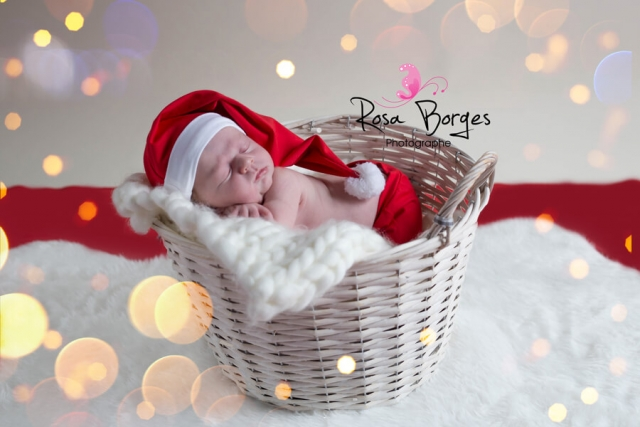 Shooting photo nourrisson spécial Noël : Newborn Posing Troyes